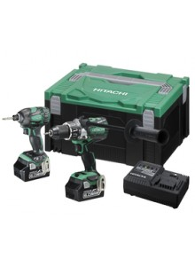 Hitachi Cordless KC18DBDL(GB) 18V Brushless Impact Drill & Impact Driver Combo Kit - INDEX 6 - Ask For A Quote.,